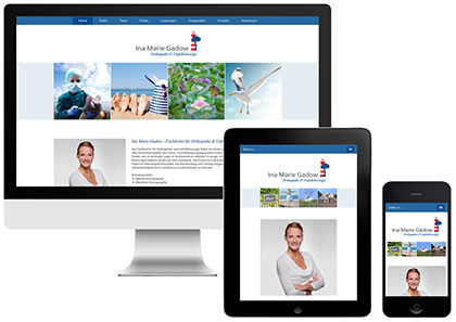 Ina Marie Gadow Webdesign