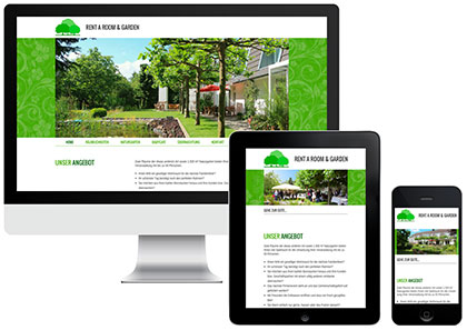 Rent a Room & Garden Webdesign